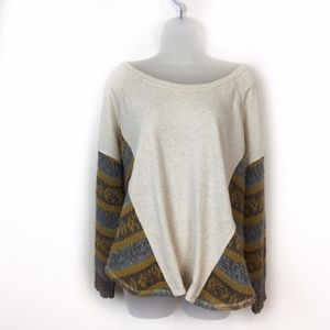 Free People Beautiful Sinner Oversized Pullover S